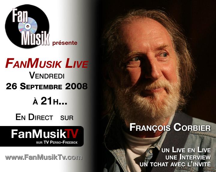 François Corbier, le 26 septembre 2008 sur FanMusik TV